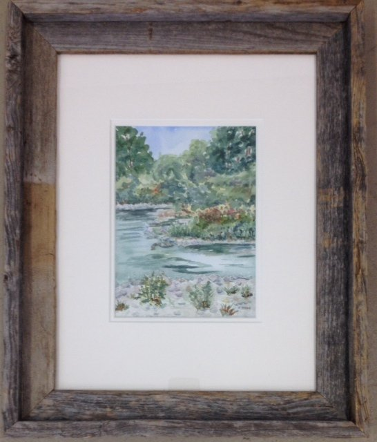 watercolour, painting, Thames, UWO, University of Western Ontario, Western University, Thames river, London Ontario, Pat Brown
