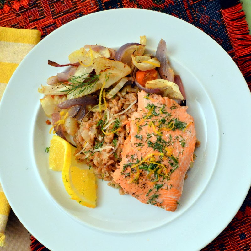 Roasted Salmon with Roasted Vegetables or The First Work Day of The ...