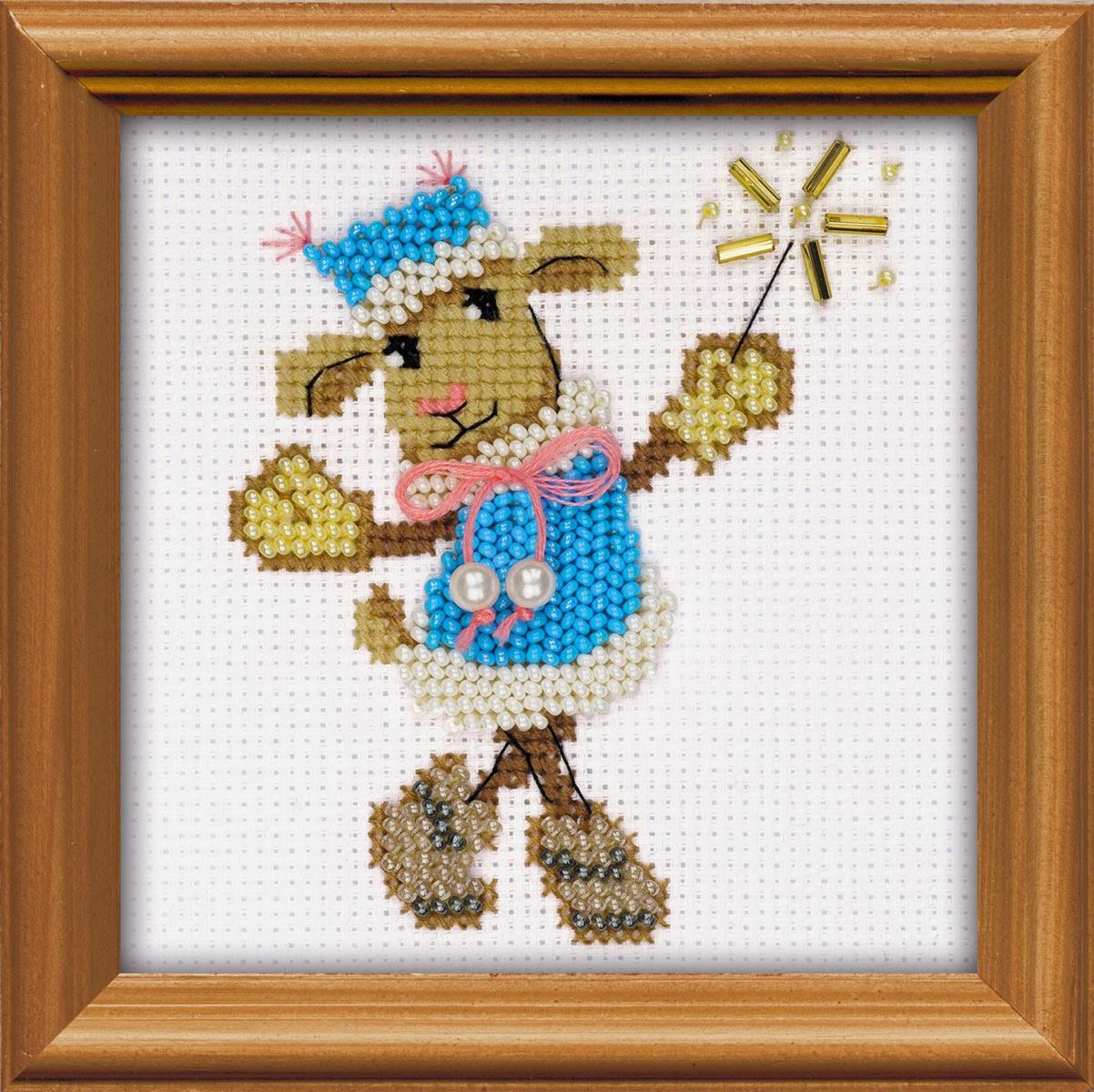 Овца рукодельница вышивка бисером