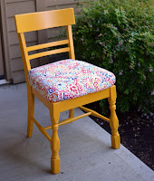 http://sisterswhat.blogspot.com/2013/10/yellow-craft-chair-tutorial.html