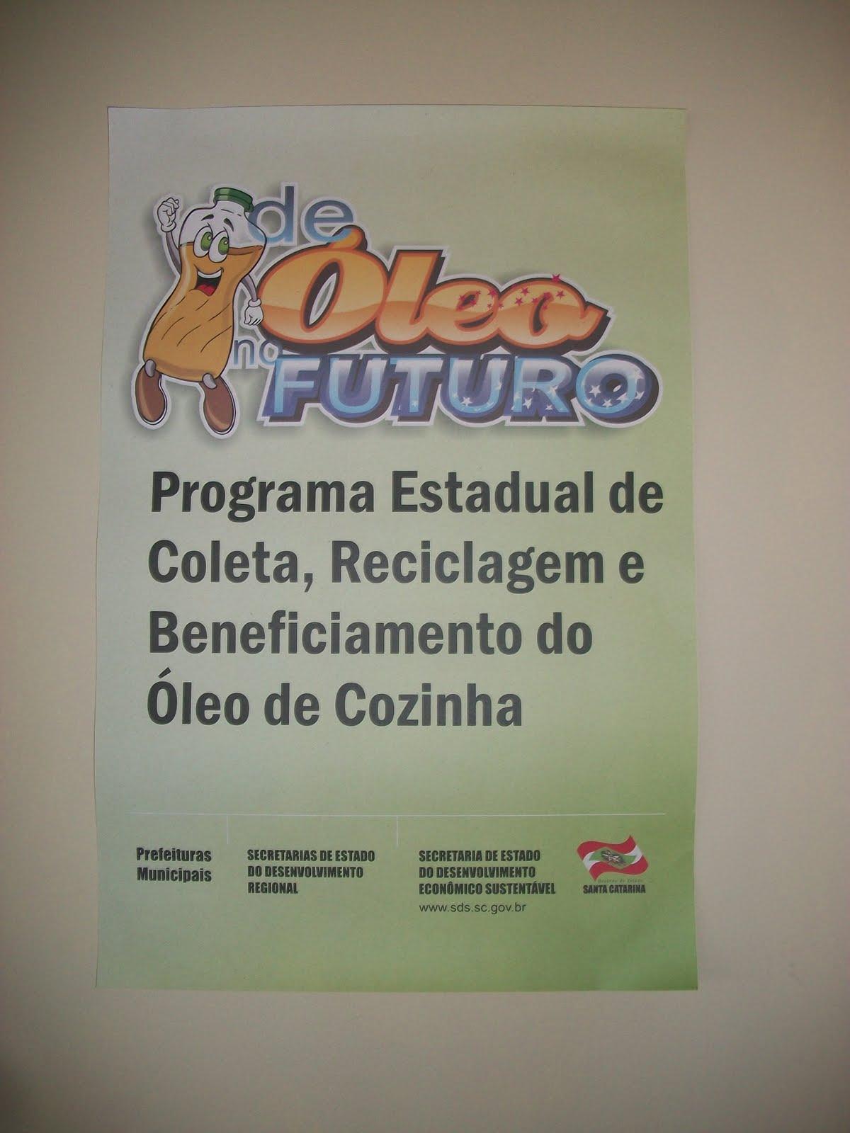 Grande Maracajá SC: Reciclagem do óleo de cozinha é tema do projeto  #8D613E 1200 1600