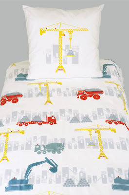 Chantier Boy's Bedding. Shown in close up.