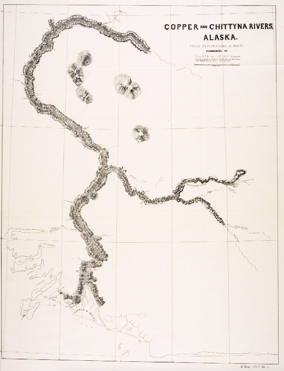 allen s published map of the copper and chitina rivers 1887