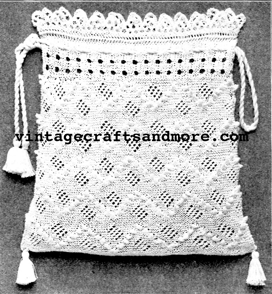 The Vintage Pattern Files: 1910s Knitting - Knitted Bag