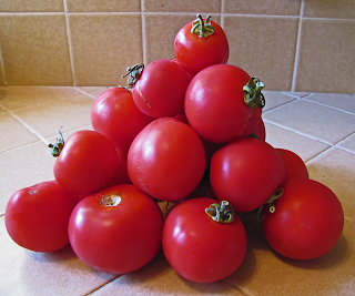 Pyramidal Stack of Tomatoes