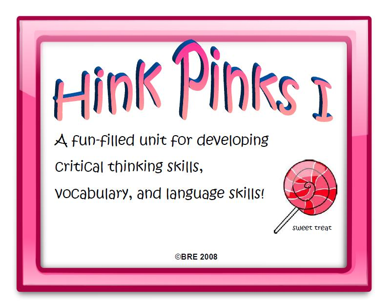 graphic regarding Hink Pinks Printable identify Its Pertaining to Period, Instructors!: March 2012