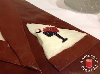 tuxedo cake frozen buttercream transfer and fondant