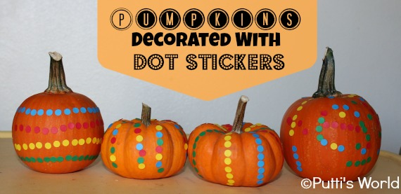 Pumpkins With Dot Stickers