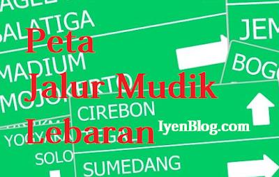 Peta Jalur Mudik Lebaran 2015 Pulau Jawa dan Sumatera