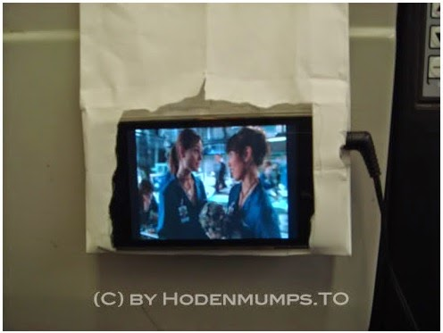 How to turn a barf bag into iPhone holder in Airplane