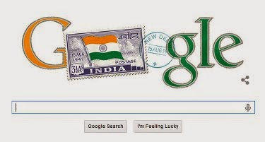 Google celebrates India's 68th Independence Day with independent India's first stamp