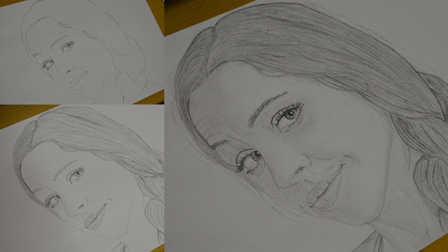 Girl face drawing - all