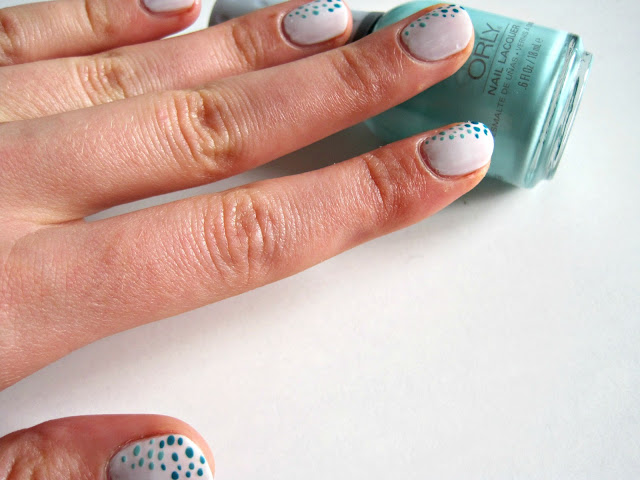 Gradient Dotted Nails orly gumdrop sally hansen the real teal tutorial manicure nails