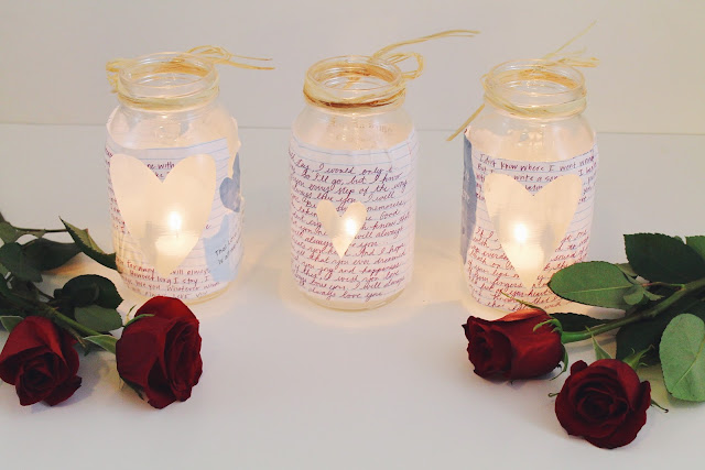 creative ways to use red roses, DIY votives, mason jar craft, how to make valentine's day gift