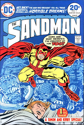 The Sandman v1 #1 dc bronze age comic book cover art by Jack Kirby