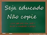 Blogs educativos - 10 motivos para não cometerem plágio