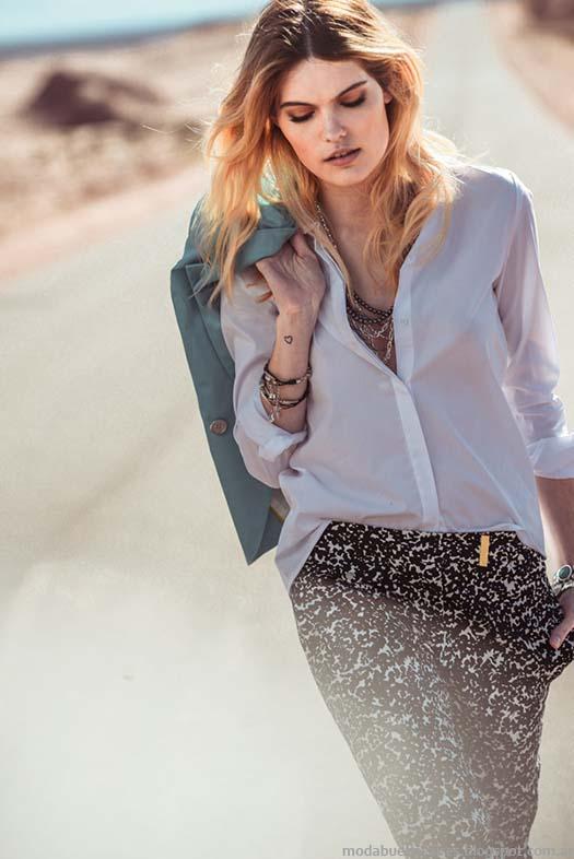 Moda blusas y camisas verano 2015. Markova primavera verano 2015.
