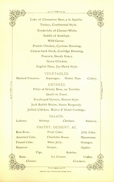 Menu, page 2