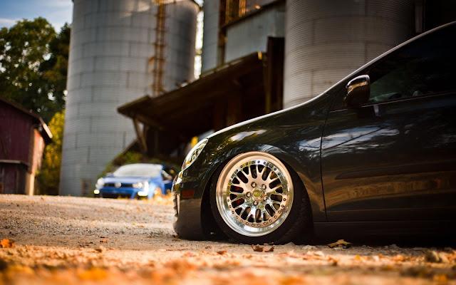 Lexus Car Slammed Wheel