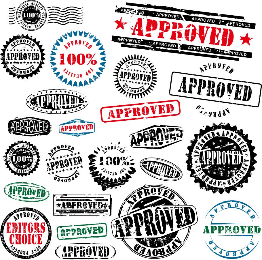 スタンプのデザイン見本 foreign stamp postmark vector イラスト素材1