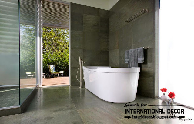 Brilliant 40 Gray Slate Bathroom Tile Ideas And Pictures