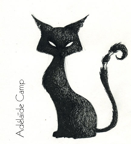 Chats noirs dessins - Chat noir dessin ...