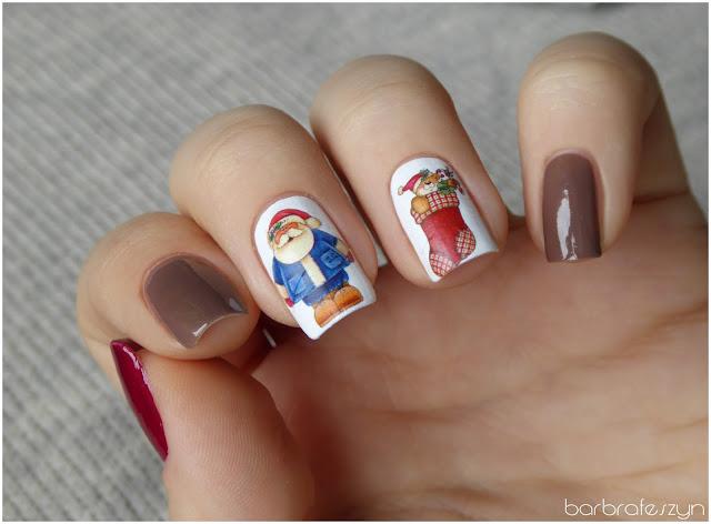Mikołajkowe paznokcie