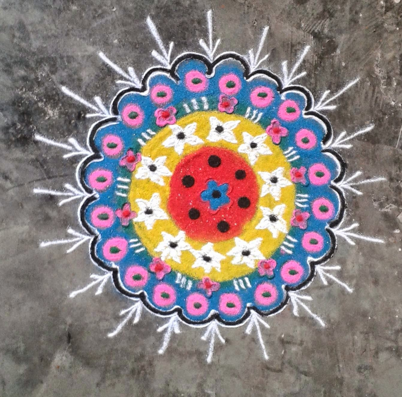 Kids Rangoli Designs 3