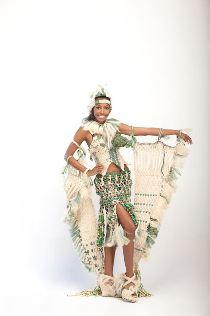Srta. Colombia 2011-2012. Desfile en traje artesanal San Andrés: Cindy Lane May Escalona