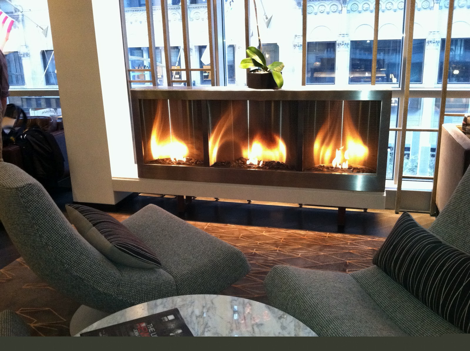 Hearth Cabinet™ Custom Modern Ventless Fireplace At Hyatt 48 Lex