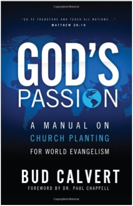 Bud Calvert's book on church planting
