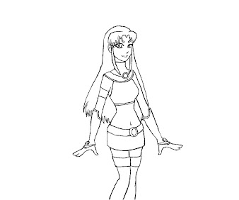 #13 Starfire Coloring Page