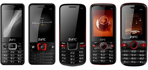 Zync C18, C21, C22, C24, C27 and C30 priced for India, up for grabs