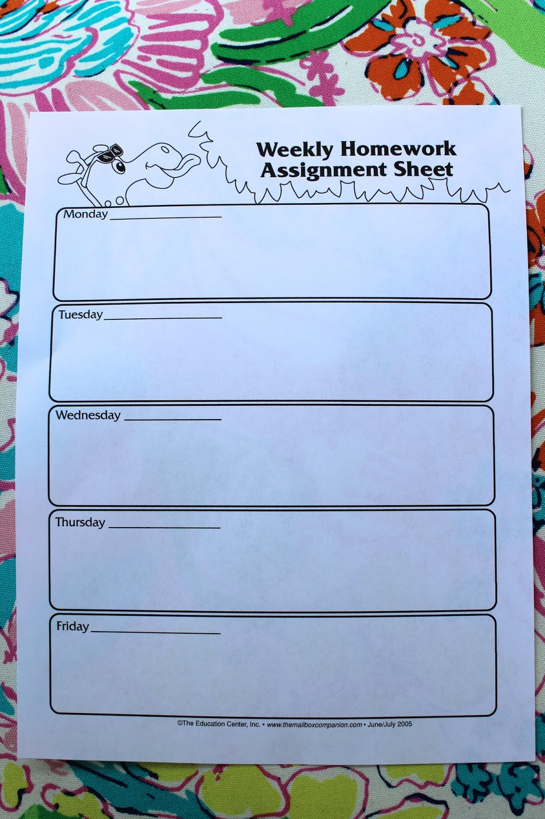Creating an effective homework plan with the Mailbox Gold | Life in ...