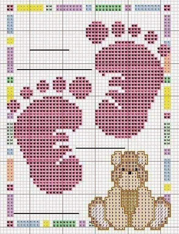 Famoso Hobby lavori femminili - ricamo - uncinetto - maglia: Schemi Bimbi  PO54