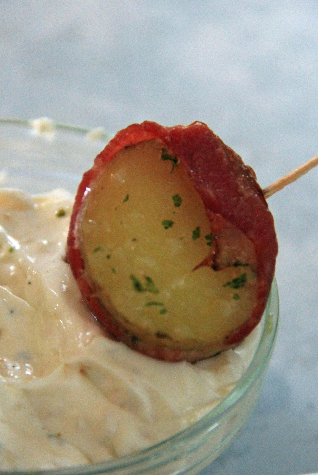 Jo and Sue: Bacon Wrapped Potatoes with Easy Garlic Ailoi