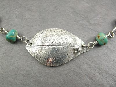 Cicada Silver:  PMC fine silver leaf with fine silver granulations
