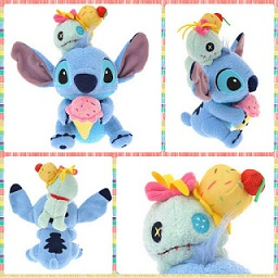 (INSTOCK) 2015 Japan Disney Store Ice-crean Stitch & Scrump