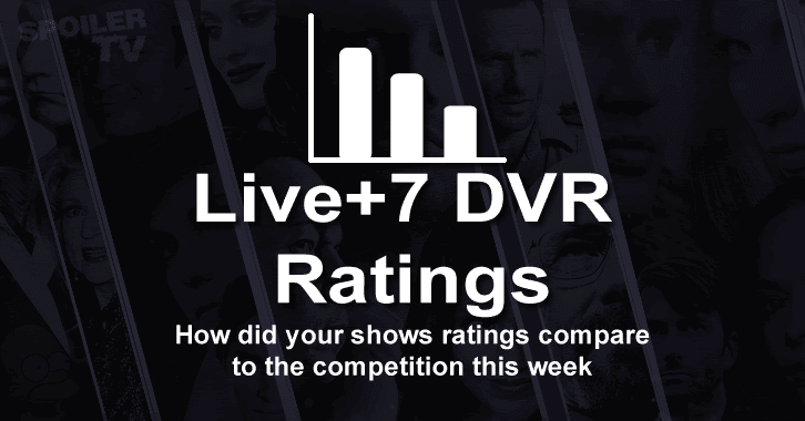 Live+7 DVR Ratings - Week 31 (21st April - 27th April 2014)