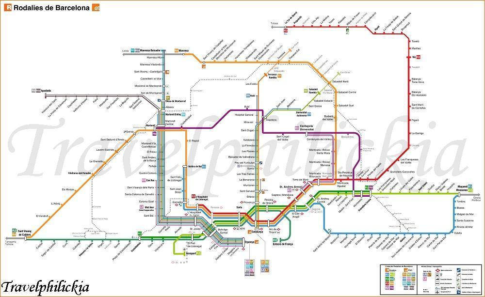 Metro De Barcelona M 225 S De 100 Im 225 Genes Del Plano De Metro