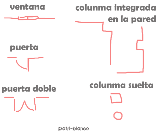 esquema boceto plano casa