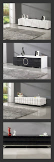 TOSH Furniture Modern TV Stand in