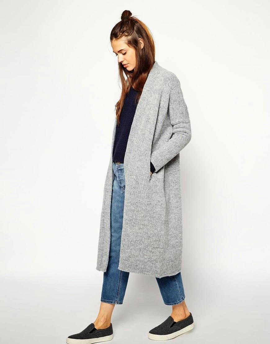 grey maxi cardigan, long cardigan in grey,