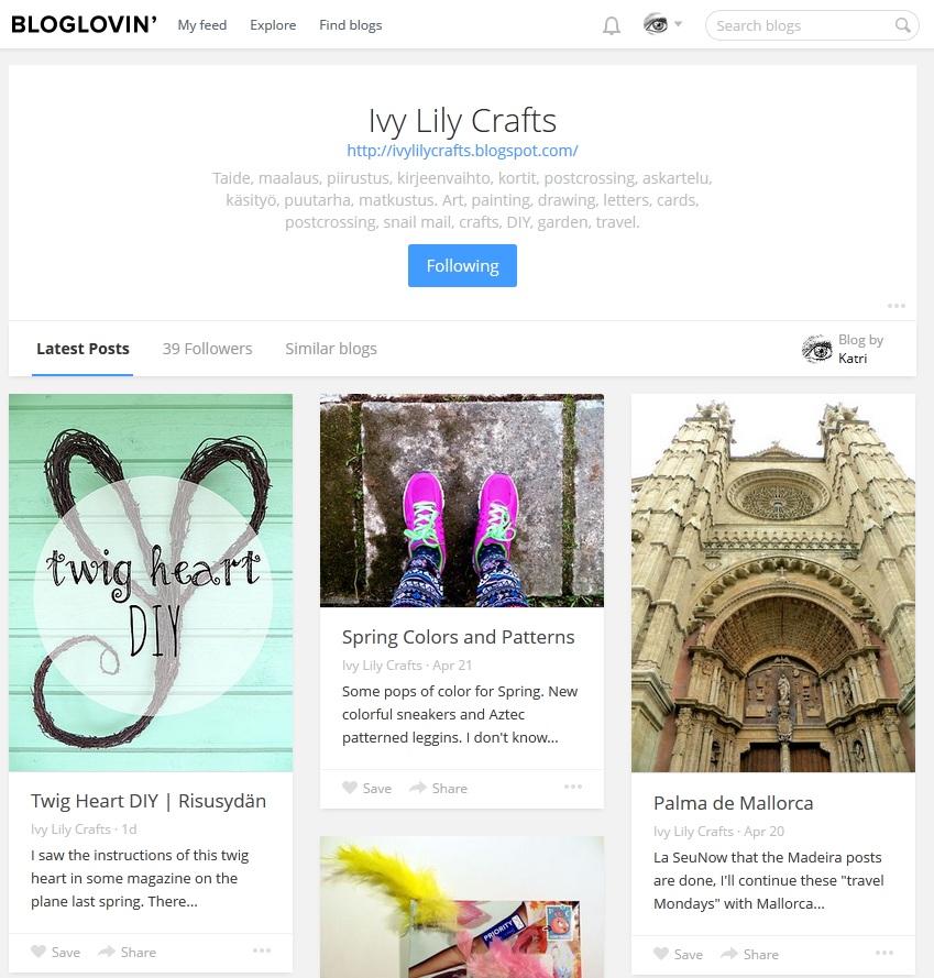 Ivy Lily Crafts at Bloglovin'
