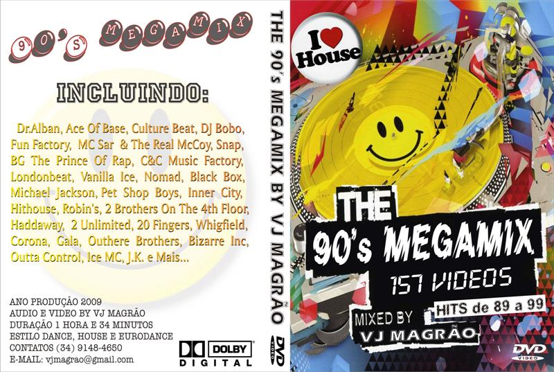 Da sua poca 1990 m sicas flash house vj magr o for 90s house music mix