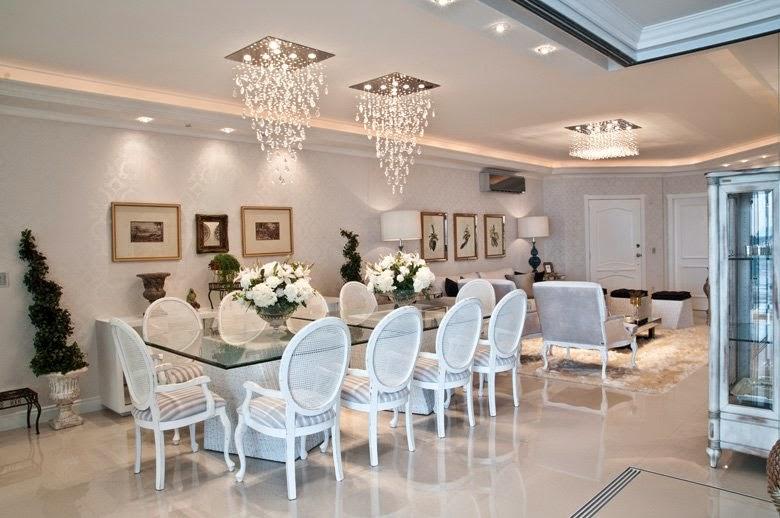 Sala De Jantar Inox E Vidro ~ Decore Sua Mente, Seu Corpo E Seu Espaço Salas de Jantar Brancas com