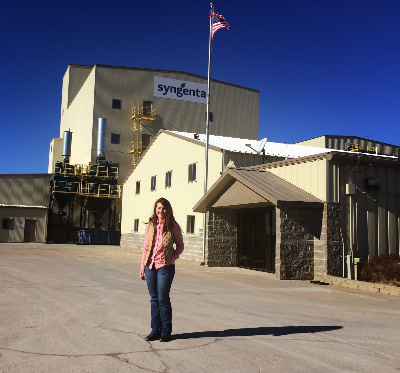 Caroline Weihl at the Syngenta seed production plant in Phillips, Nebraska