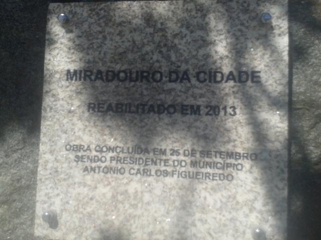 Placa Miradouro da Cidade de São Pedro do Sul