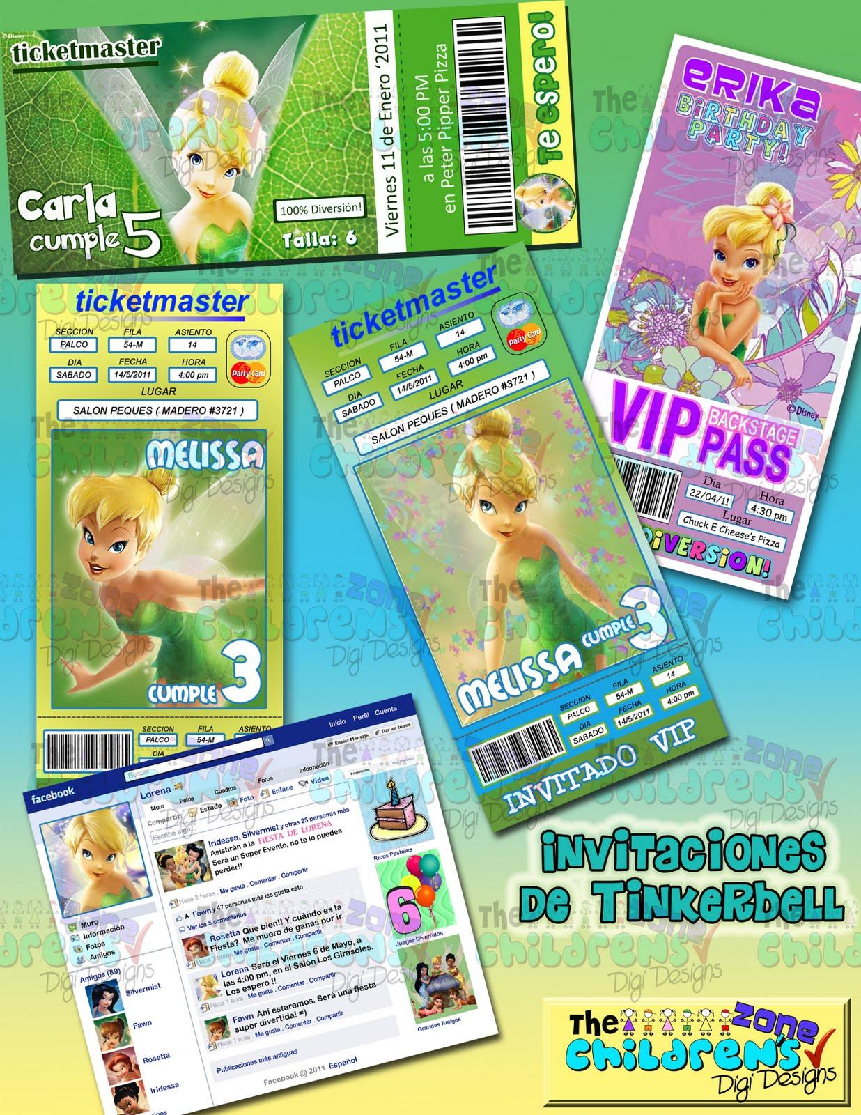 Invitaciones De Tinkerbell