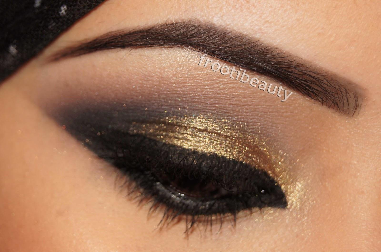 frootibeauty fff gold black arabic khaleeji style makeup look. Black Bedroom Furniture Sets. Home Design Ideas